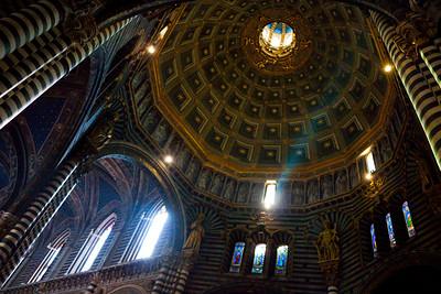 The interior of the Duomo di Siena, Italy 2010