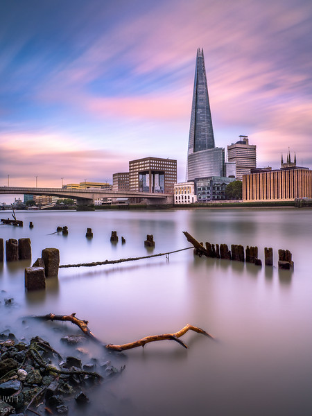 The shard at low tide