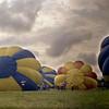 RiverFest Balloon Launch Wichita, KS 1976  <br /> <br /> Shot with an old 1950s Exacta SLR manual 35mm camera.
