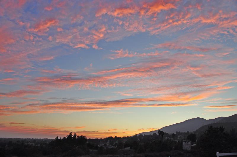 Sunset in Cucamonga