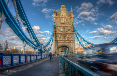 """Queen's Bridge"", Tower Bridge, London, England"
