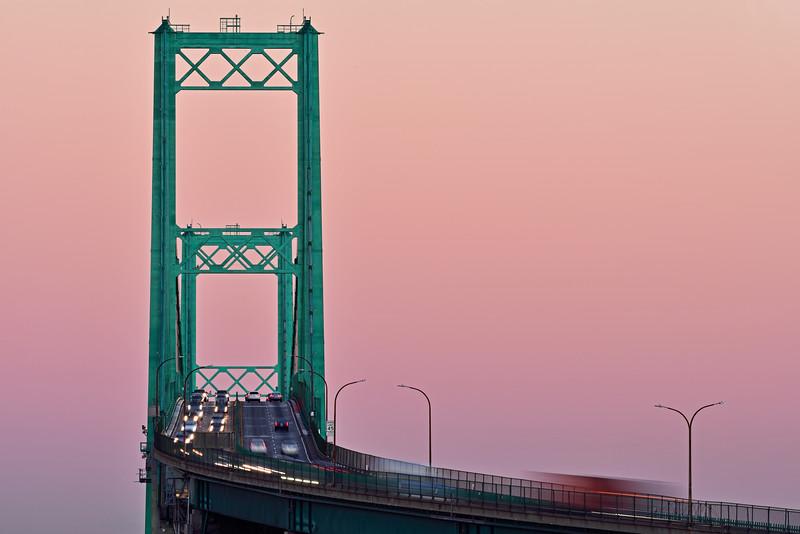 Vincent Thomas Bridge alpenglow