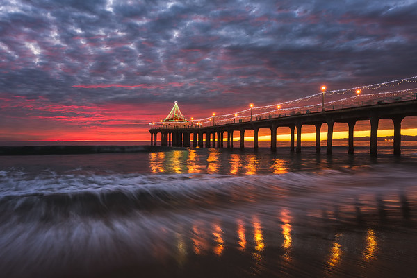 B A Y Photography Manhattan Beach Pier Sunset