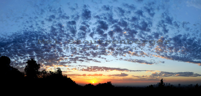 Sunrise composite shot from Bel Air California.