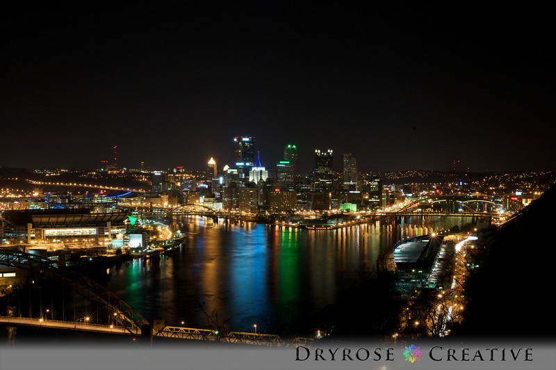 Downtown Pittsburgh from West End Overlook