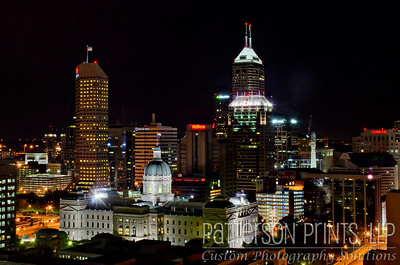 The Indiana State Capitol Building in downtown Indianapolis.
