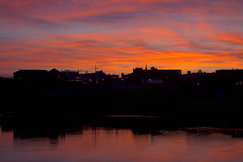 Sunrise over Lewiston, Maine