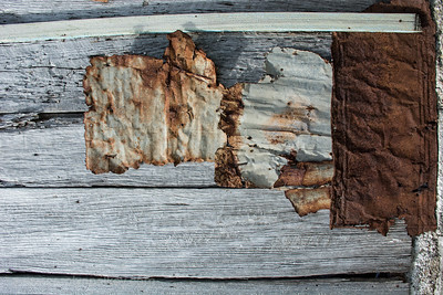 Composition In Rust and Wood