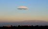 Lenticular cloud over Riverside, 29 Nov 2008