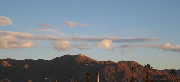 Cloud over Yucaipa from Moreno Valley, 19 Dec 2006