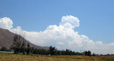 Cumulonimbus cloud over Mt. San Gorgonio from I-215, 31 Jul 2005