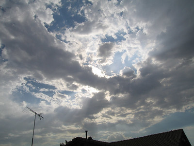 Cumulus cloud over our house, 3 Sep 2006