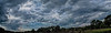 Cloudscape panorama, summer evening