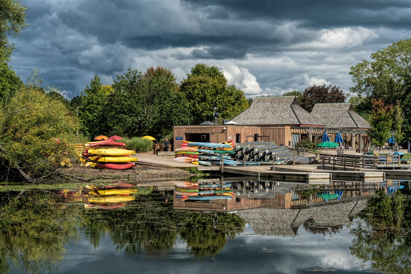 For 2017-09-20:  Stormy skies and calm water - Gallup Park