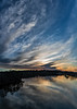 Photomerge of sunrise cloudscape over the Huron River