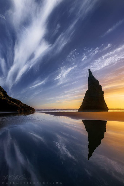 """""""Other World"""" (with moon) Oregon"""