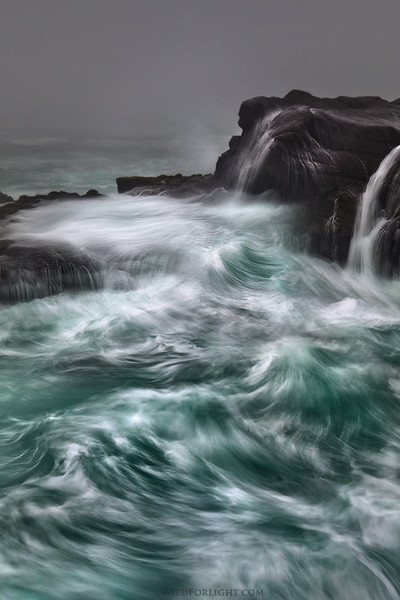"""Pacific Tumult"" (Vertical)  Oregon"