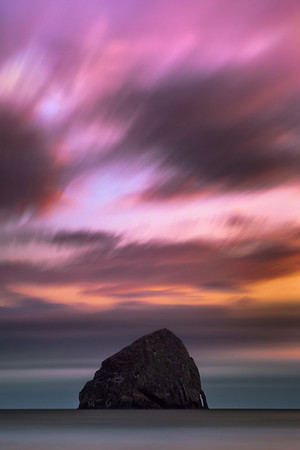 """Painted Sky at Haystack"" - Oregon"