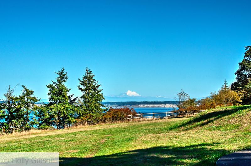 Mt. Baker from Artillery Hill - Fort Worden