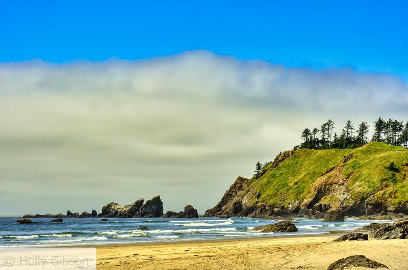 View near Crescent Beach - Oregon Coast