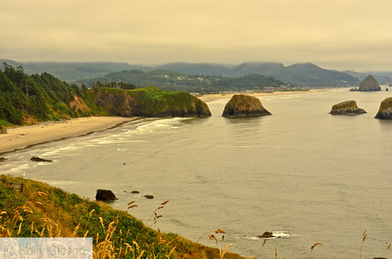View from Ecola Park - trail from Seaside to Cannon Beach - Oregon Coast
