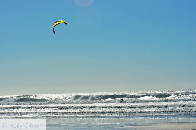 Kite surfing at Manzanita