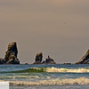 Tillamook lighthouse from Crescent Beach - Hike from Seaside to Cannon Beach - Oregon Coast