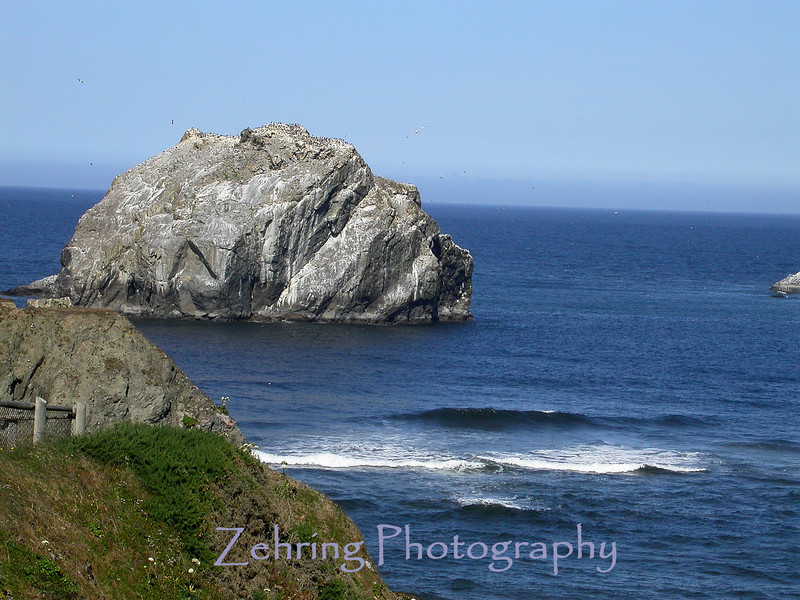 """Face Rock"" off the coast of Oregon."