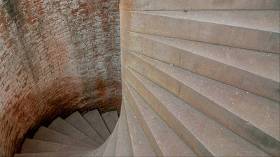 Lighthouse Staircase - Fort Point - San Francisco, California