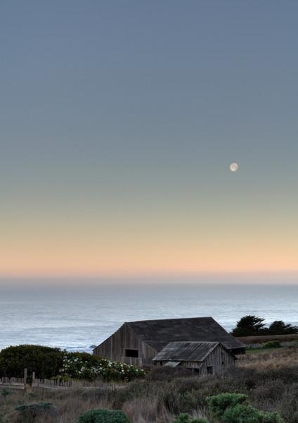 Sunrise/Moonset Sonoma Coast