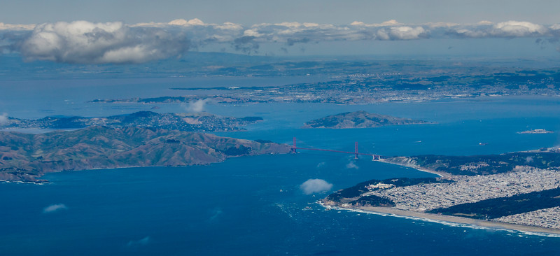 San Francisco, Marin Headlands, Angel Island, and The Golden Gate Bridge