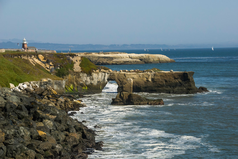 West Cliff and the Santa Cruz Lighthouse