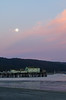 Moonrise over Romeo's pier, Half Moon Bay