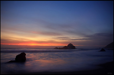 Pfeiffer Beach, Sunset  Big Sur, California
