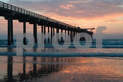 Sunset at Scripps Pier, La Jolla, California