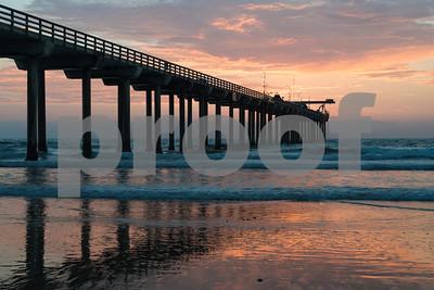 Sunset at Scripps Pier, La Jolla, California