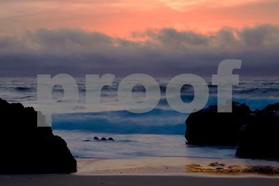 Garapata State Beach-Coastal Sunset wtih Fog Bank