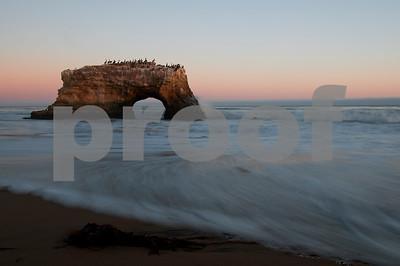 Natural Bridges Big Sur Coast California