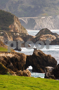 Bridge along Big Sur Coast, Big Sur Coast, California