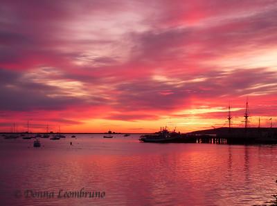 Plymouth, Ma Plymouth Harbor at dawn
