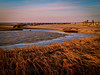 Brewster, Ma<br /> Paine's Creek, Cape Cod <br /> Winter sunset at low tide