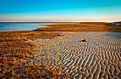 Brewster, Ma     Cape Cod Paine's Creek at low tide sunrise