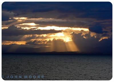 Evening sun on the west coast of Ireland