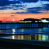 Cromer Pier at sunset.