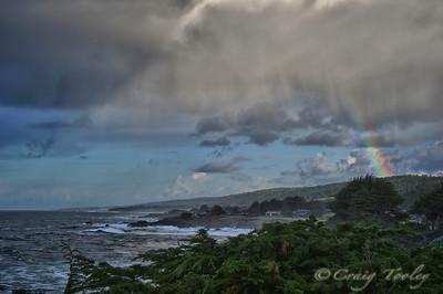 Rainbow, sea and clouds