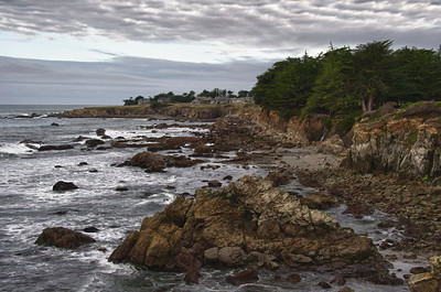 A Rocky shore along the Northern Coast California