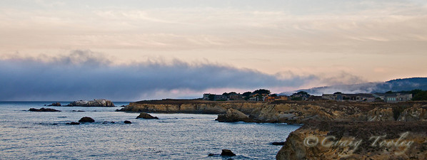 A soft morning on the northern coast of California.