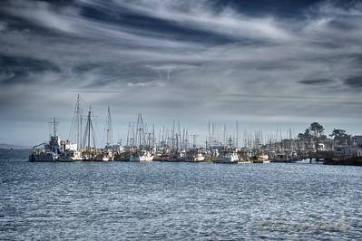 Beautiful harbor Bodega Bay California