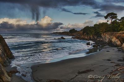 Walk On pocket beach in The Sea Ranch California