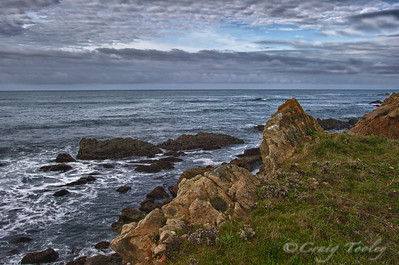 Rocky shore Northern Coast California